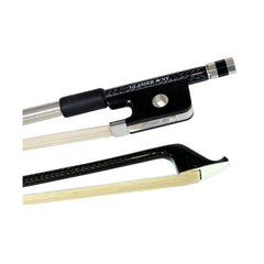 Glasser Braided Carbon Fiber Round Stick Cello Bow 4/4