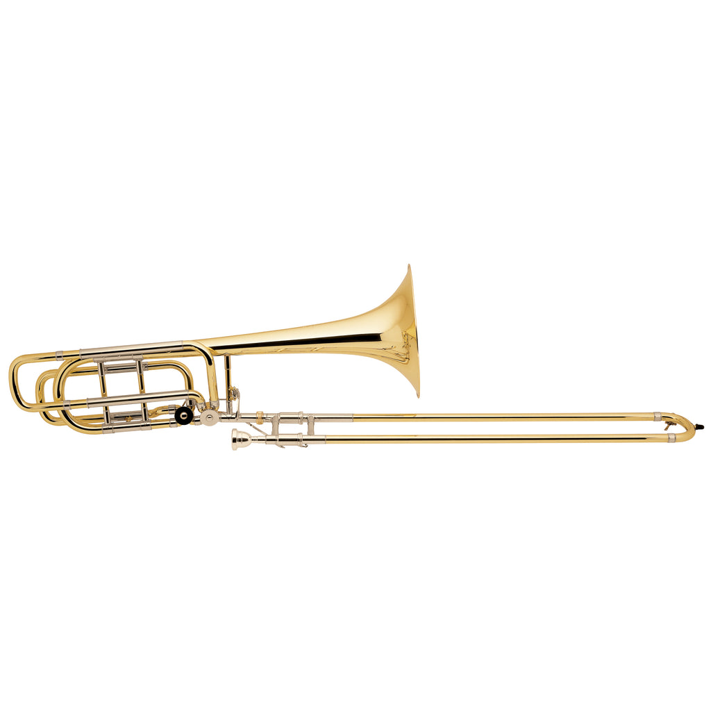 Bach Stradivarius 50B3O Bass Trombone With Dual Inline Rotary Valves, Open Wraps