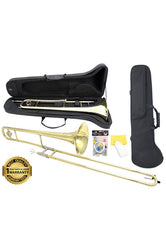 D'Luca 750 Series Gold Brass Bb Tenor Slide Trombone, Professional Case, Cleaning Kit and 1 Year Manufacturer Warranty