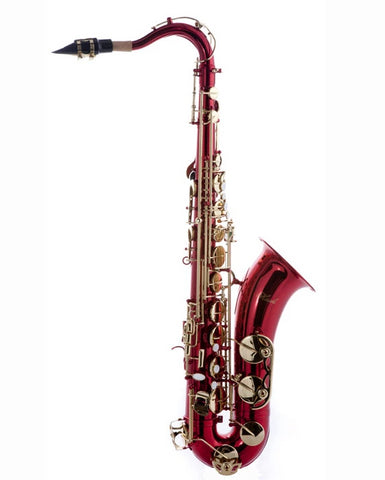 Hawk Red Tenor Saxophone with Case, Mouthpiece and Reed