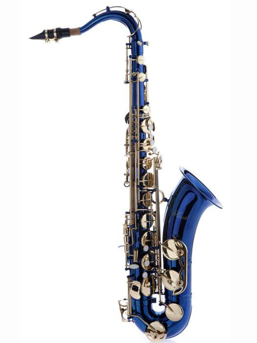 Hawk Blue Tenor Saxophone with Case, Mouthpiece and Reed