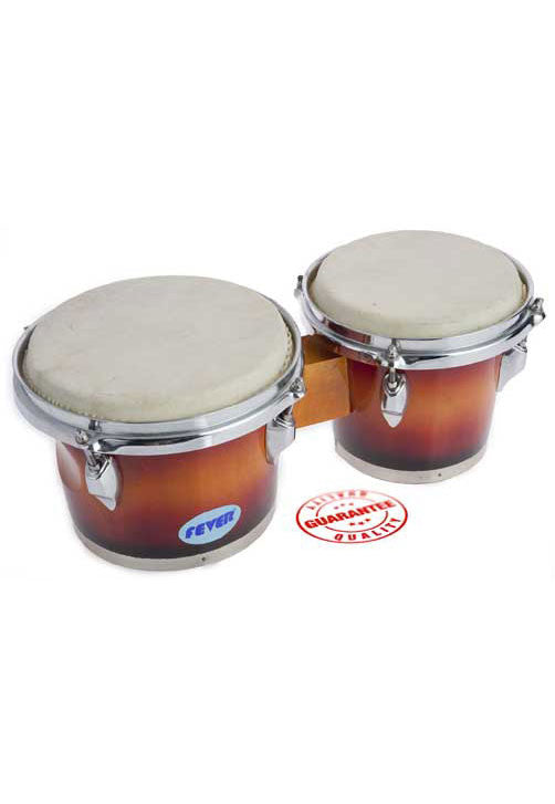 Fever Tunable Bongos 8 & 7 Inch Sunburst Finish