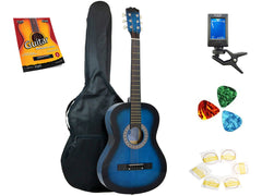 Star Acoustic Guitar 38 Inch with Bag, Tuner, Strings, Picks and Beginner's Guide, Blueburst
