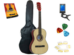 Star Acoustic Guitar 38 Inch with Bag, Tuner, Strings, Picks and Beginner's Guide, Natural