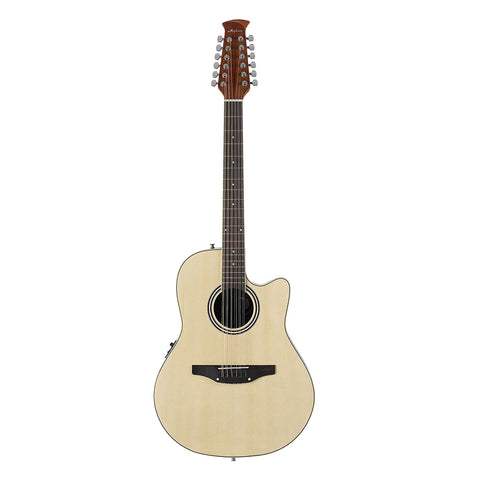 Ovation Applause 12-String Acoustic Electric Guitar, Mid Depth, Natural