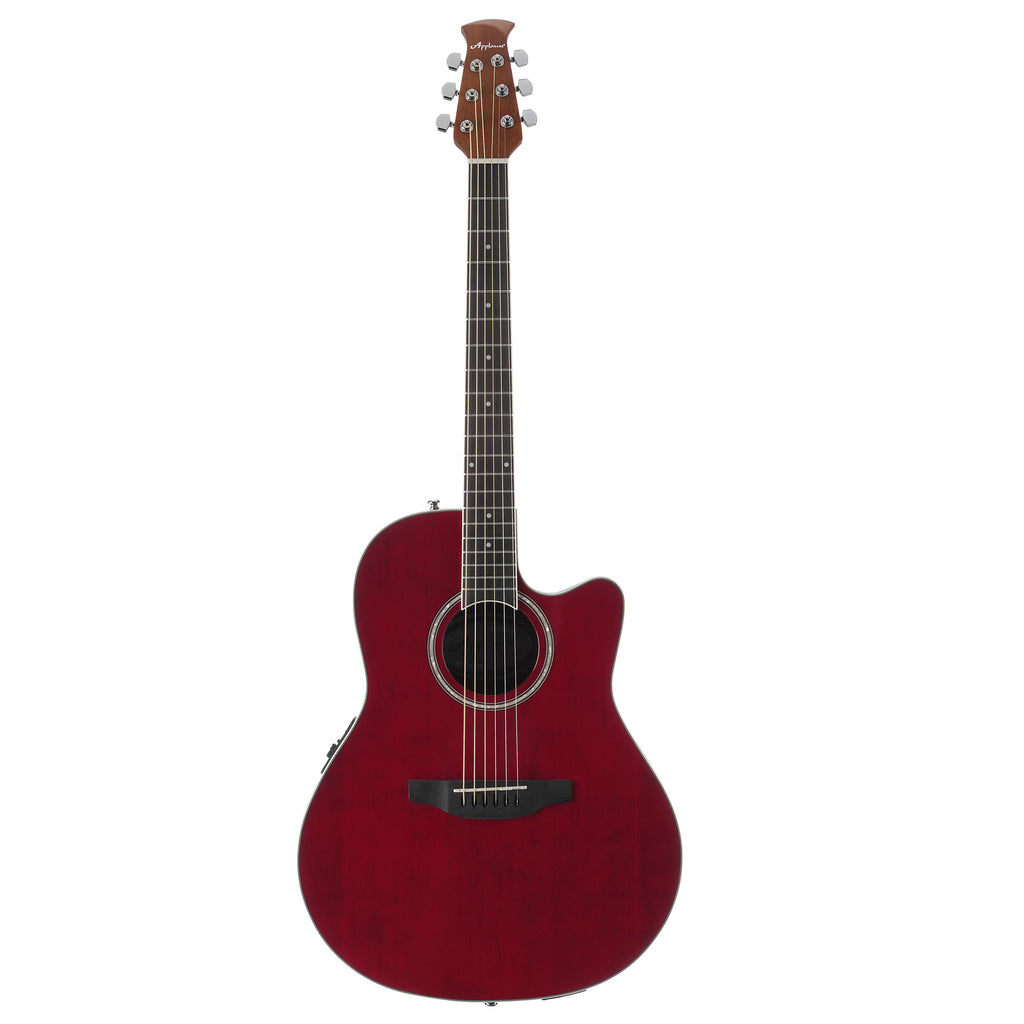 Ovation Applause Standard, Mid Depth, Acoustic Electric Guitar, Ruby Red