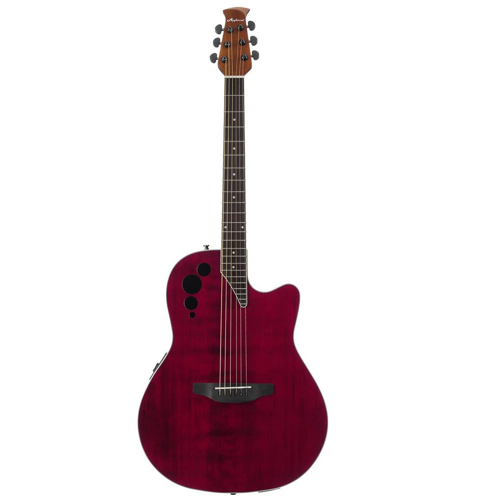 Ovation Applause Elite, Mid Depth, Acoustic Electric Guitar, Ruby Red