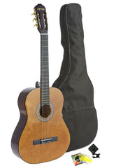 Fever Student Full Size Nylon Classical String Guitar with Bag, Tuner and Strings
