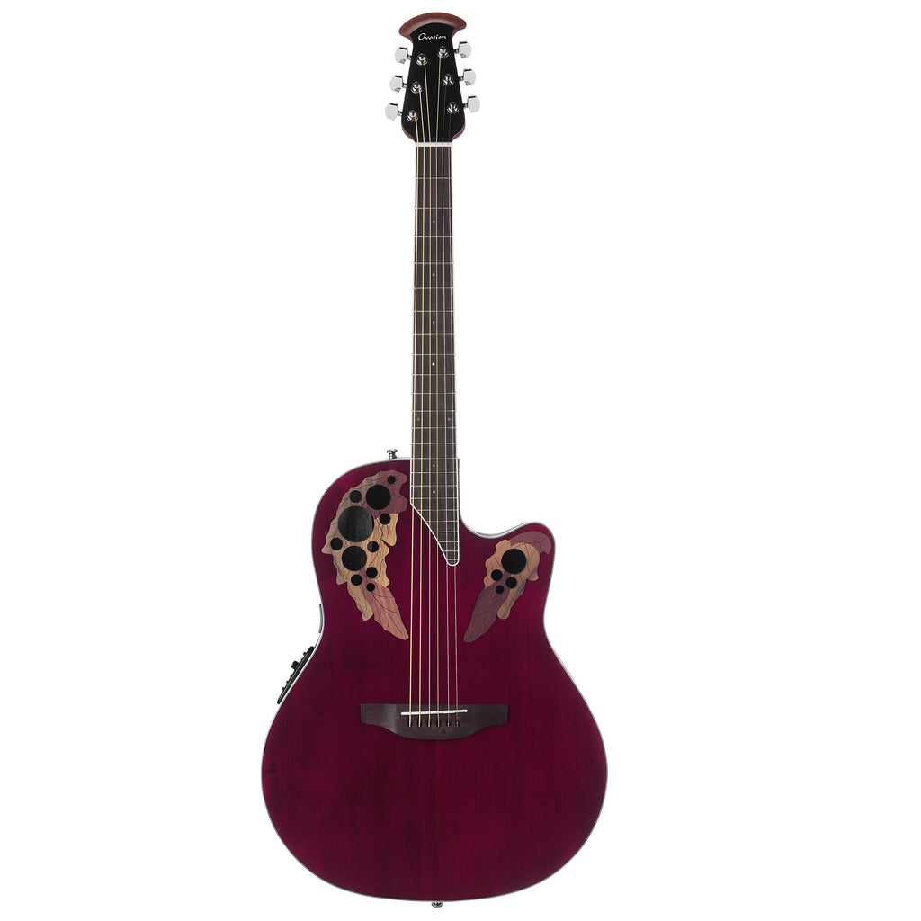 Ovation Celebrity Elite Super Shallow, Acoustic Electric Guitar, Ruby Red