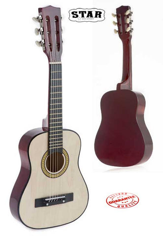 Star Kids Acoustic Toy Guitar 31 Inches Color Natural