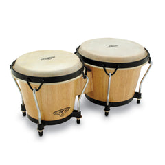 Latin Percussion CP Traditional Wood Bongos Natural