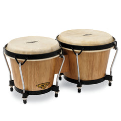 Latin Percussion CP Traditional Wood Bongos Dark Wood
