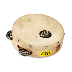 Latin Percussion LP CP 6 Inch Wood Single Row Tambourine With Head