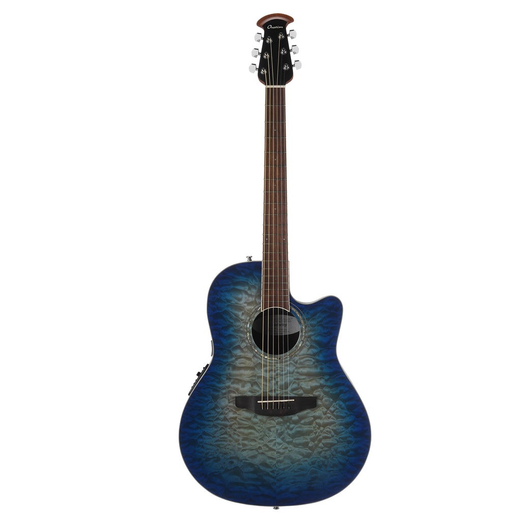 Ovation Celebrity Shallow, Acoustic Electric Guitar Blue/Natural Burst