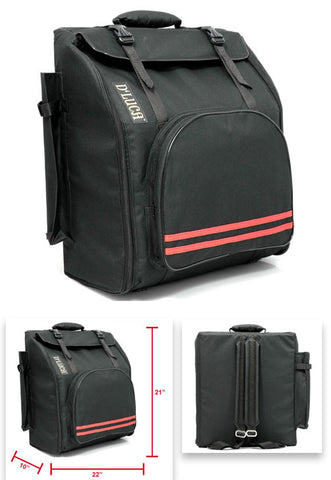 1200D Oxford Cloth Black Thickened Accordion Case Carrying Bag for 48//72 60 Accordion Bass