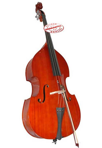 D'Luca Ebony 3/4 Full Size Flamed Upright Double Bass