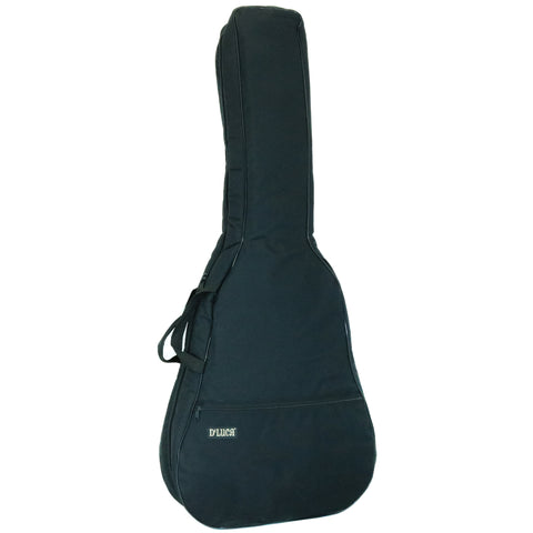 D'Luca Deluxe Padded Guitar Gig Bag For 12-String Acoustic Guitars, Black