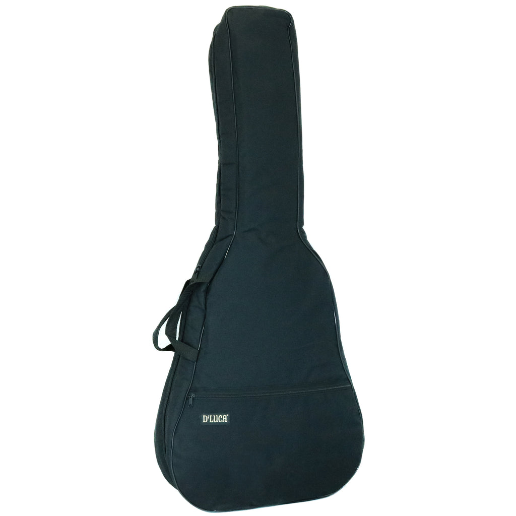 D'Luca Deluxe Padded Guitar Gig Bag For Accoustic Dreadnought Guitars, Black