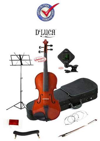 D'Luca Meister Student Violin School Package 1/4