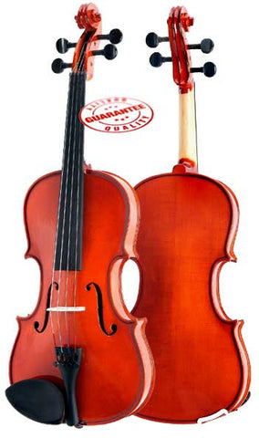 D'Luca Meister Ebony Fitted Beginner Violin Outfit 1/16