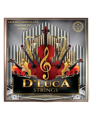 D'Luca Synthetic Core (Perlon Core) with Ball End Violin Strings Set 4/4
