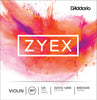 D'Addario Zyex Violin String Set, 1/8 Scale, Medium Tension