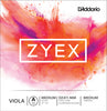 D'Addario Zyex Viola Single A String, Medium Scale, Medium Tension