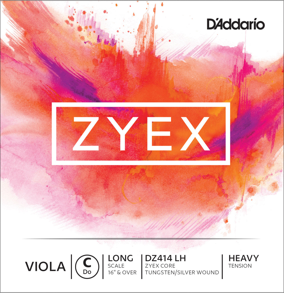 D'Addario Zyex Viola Single C String, Long Scale, Heavy Tension