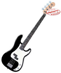 Electric Bass Guitar with Bag, Strap and Tuner, Black