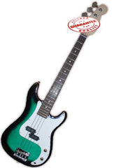Electric Bass Guitar with Bag, Strap and Tuner, Greenburst