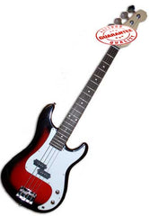 Electric Bass Guitar with Bag, Strap and Tuner, Cherryburst