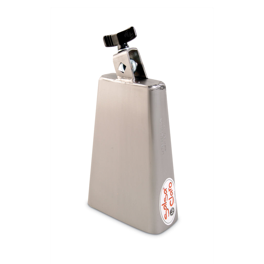 Latin Percussion LP Salsa Claro Cowbell 7.25 Inch, Brushed Steel