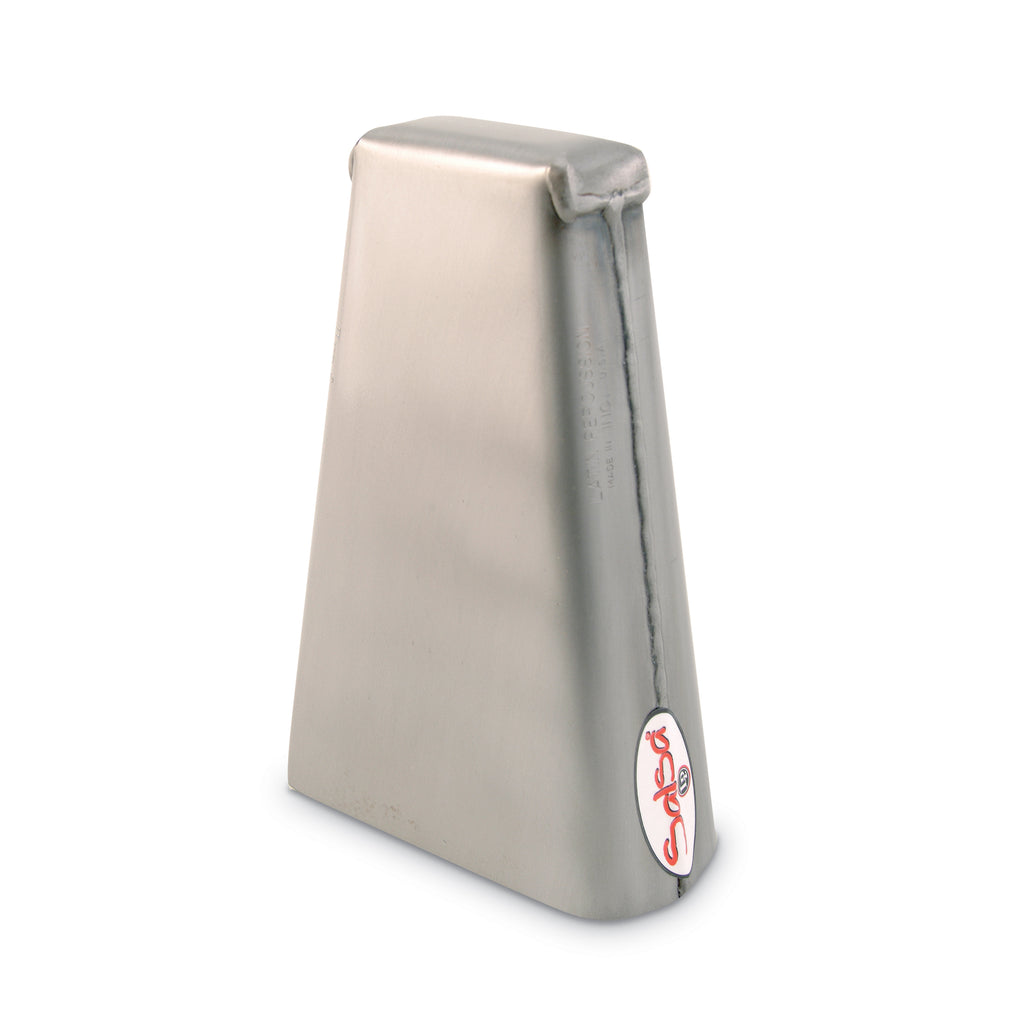 Latin Percussion LP Salsa Hand Held Bongo Cowbell 7.75 Inch, High, Brushed Steel