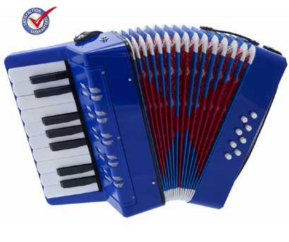 D'Luca Kids Piano Accordion 17 Keys 8 Bass Blue