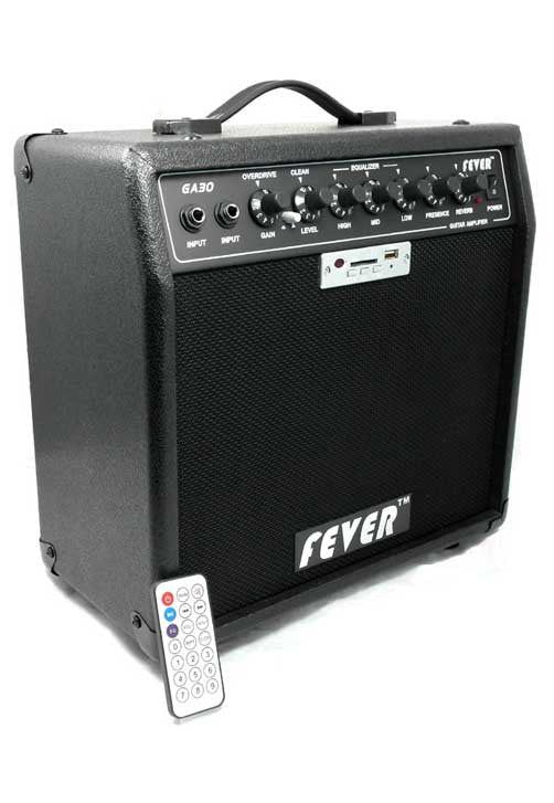 Fever 30 Watts Guitar Combo Amplifier with USB and SD Audio Interface with Remote Control