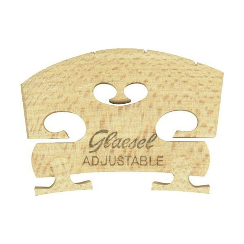 Glaesel Self-Adjusting Full Size 4/4 Violin Bridge