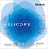 D'Addario Helicore Violin Single D String, 1/2 Scale, Medium Tension