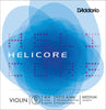 D'Addario Helicore Violin Single D String, 4/4 Scale, Medium Tension