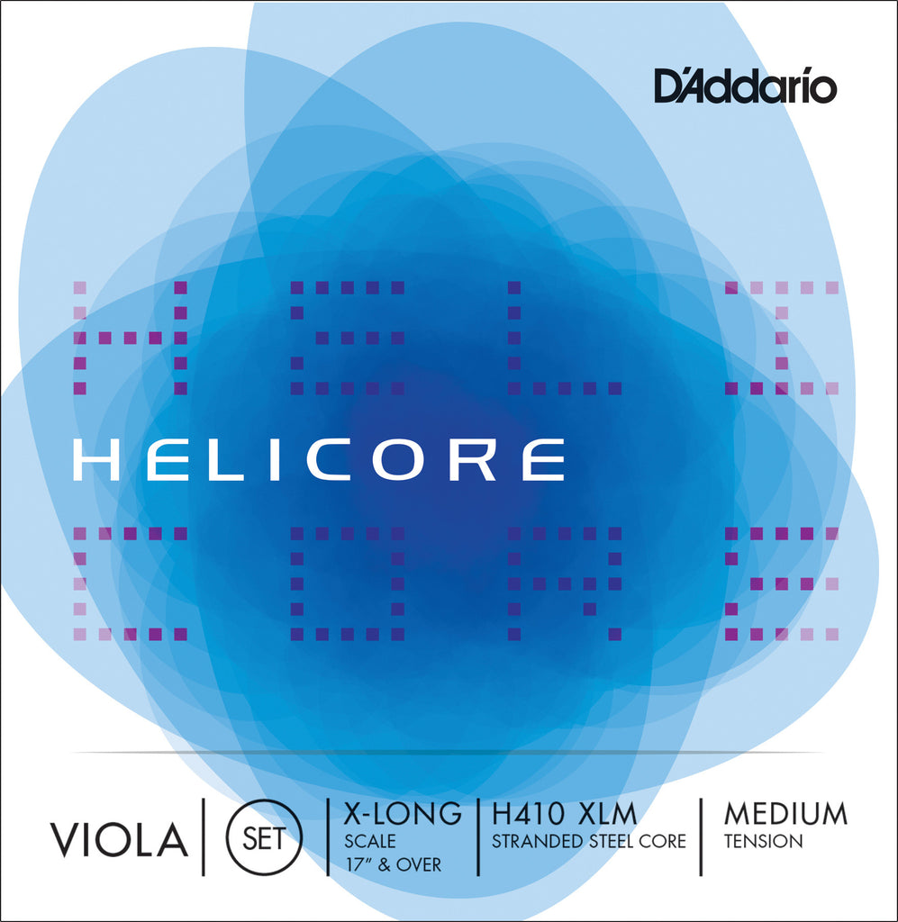 D'Addario Helicore Viola String Set, Extra Long Scale, Medium Tension