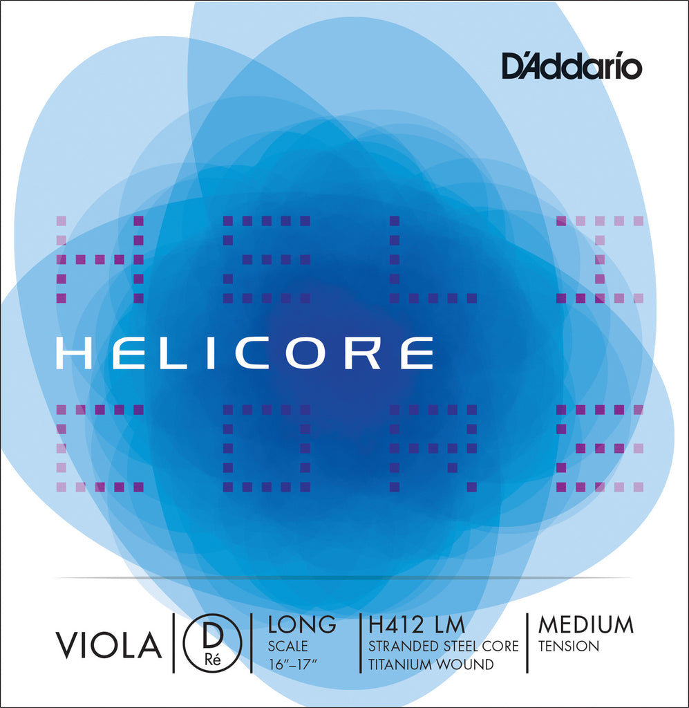 D'Addario Helicore Viola Single D String, Long Scale, Medium Tension
