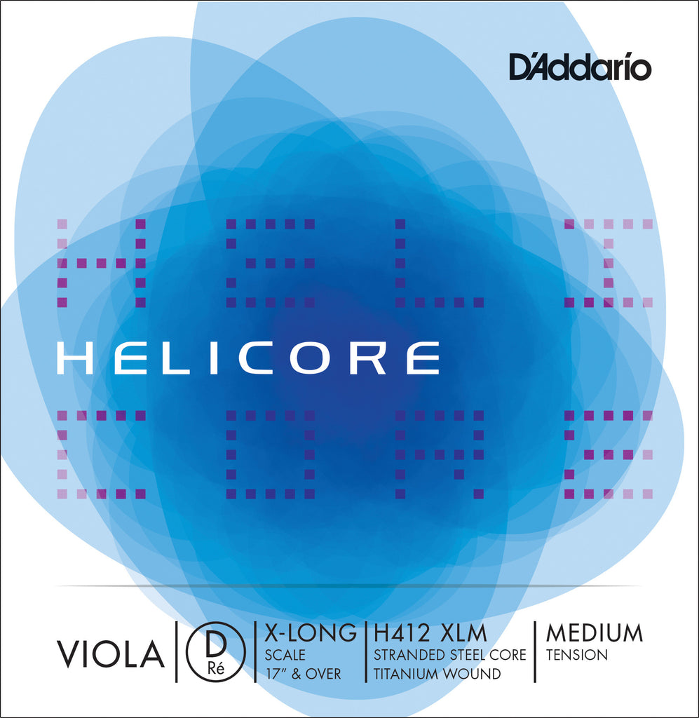 D'Addario Helicore Viola Single D String, Extra Long Scale, Medium Tension