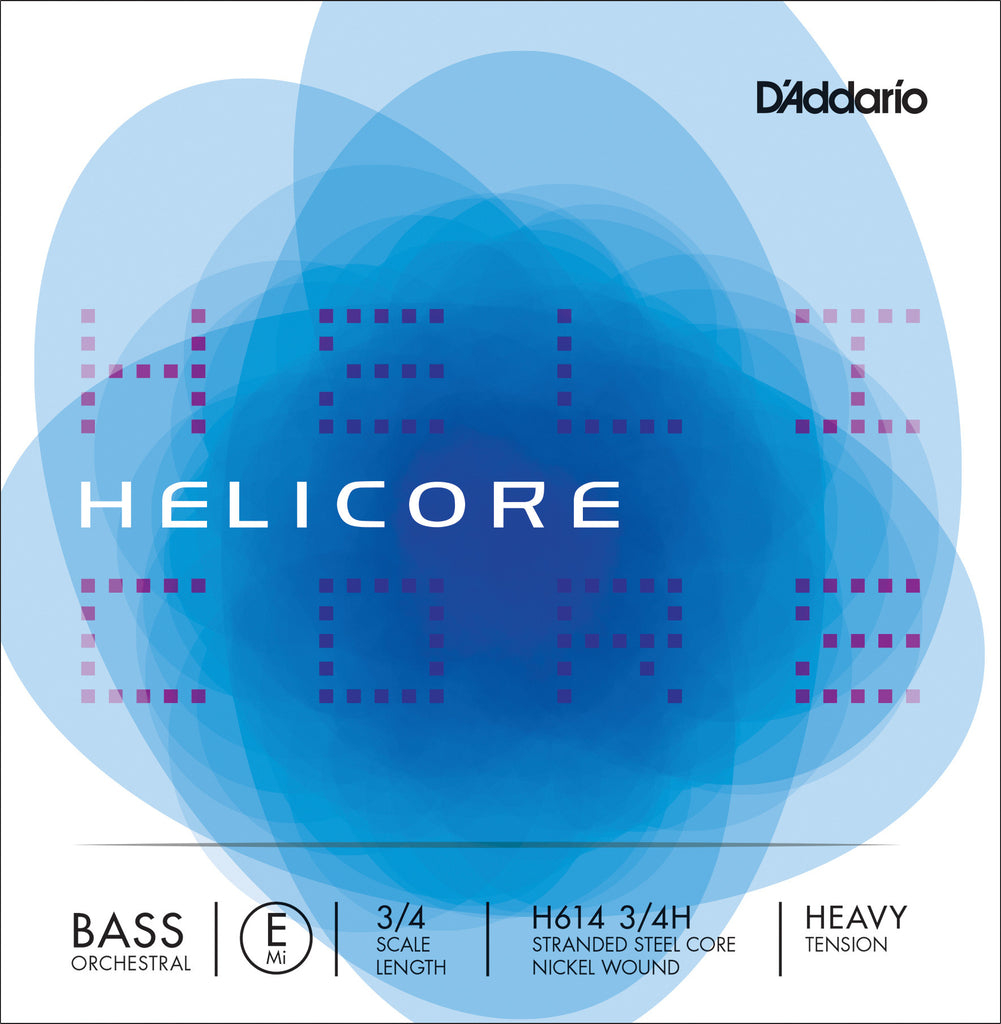 D'Addario Helicore Orchestral Bass Single E String, 3/4 Scale, Heavy Tension