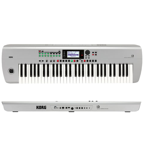 Korg i3 Music Keyboard Workstation Matte Silver