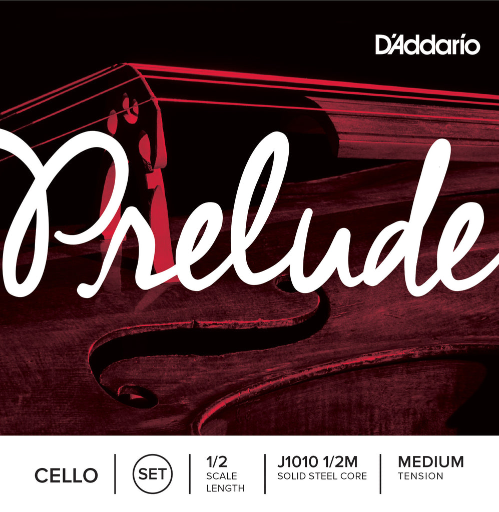 D'Addario Prelude Cello String Set, 1/2 Scale, Medium Tension