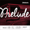 D'Addario Prelude Cello Single A String, 1/8 Scale, Medium Tension