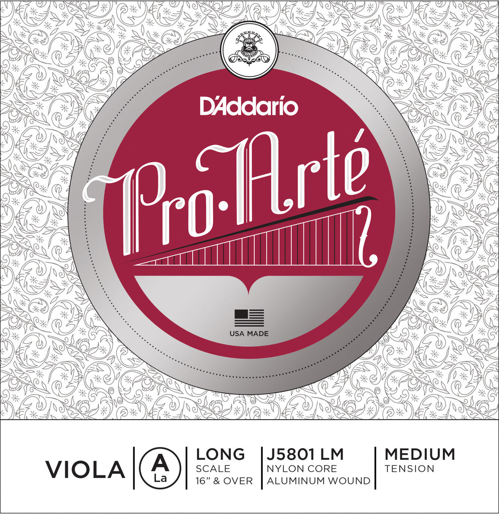 D'Addario Pro-Arte Viola Single A String, Long Scale, Medium Tension