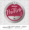 D'Addario Pro-Arte Viola Single D String, Short Scale, Medium Tension