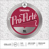 D'Addario Pro-Arte Cello String Set, 3/4 Scale, Medium Tension