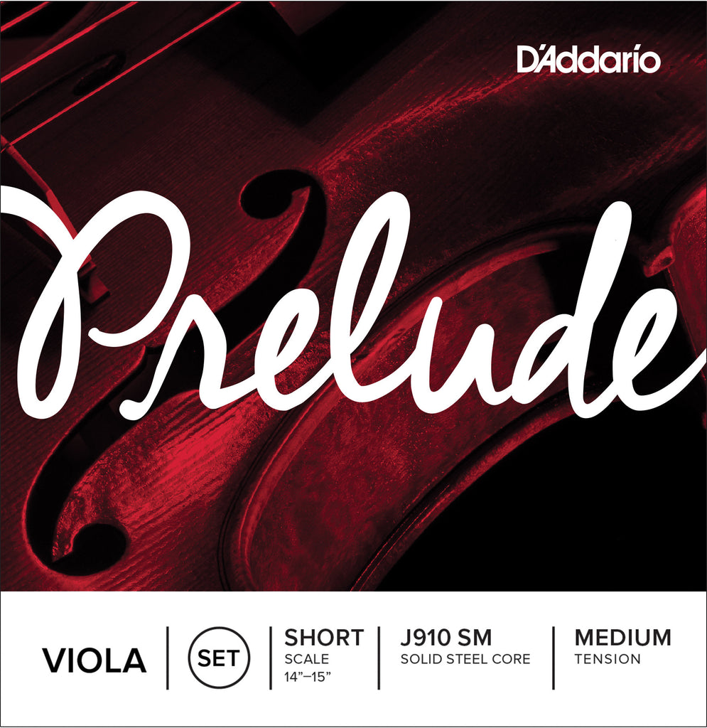 D'Addario Prelude Viola String Set, Short Scale, Medium Tension