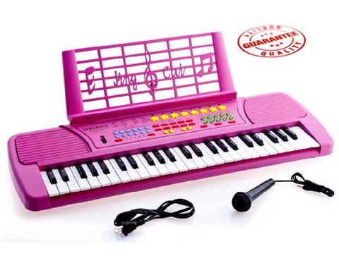 D'Luca Children 49 Keys Electronic Piano Music Keyboard Pink